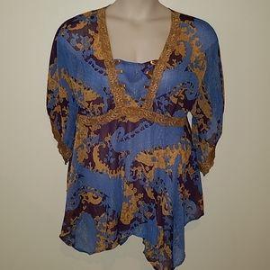 Dare to Wear romantic blouse, size 1x 14/16
